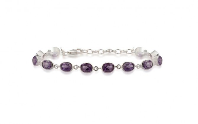 Bracelet-Stone purple